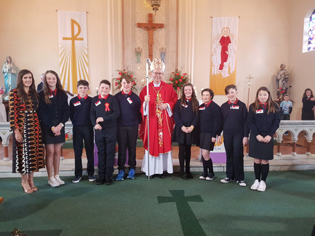 Congratulations to our fanastic 6th class on receiving the Sacrament of Confirmation.