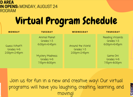 Virtual Program Schedule for Fall (Boys and Girls Club , Aspen)