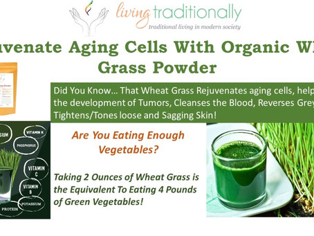 Are you taking Wheat Grass?
