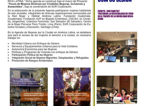 Agenda de Mujeres por la Ciudad en América Latina - CSW Nueva York