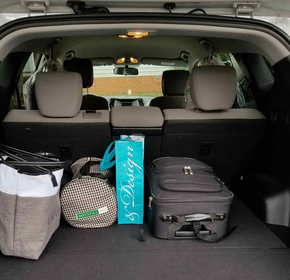 The car is packed to go to college and you are free to design a new space.