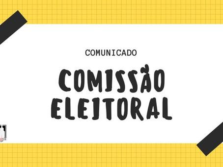 Comunicado da Comissão Eleitoral