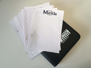 Matilda the Musical notepad announced for Plus Ten Directory 2020