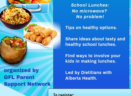 Healthy Schol Lunches by Parent Support Network oct 2