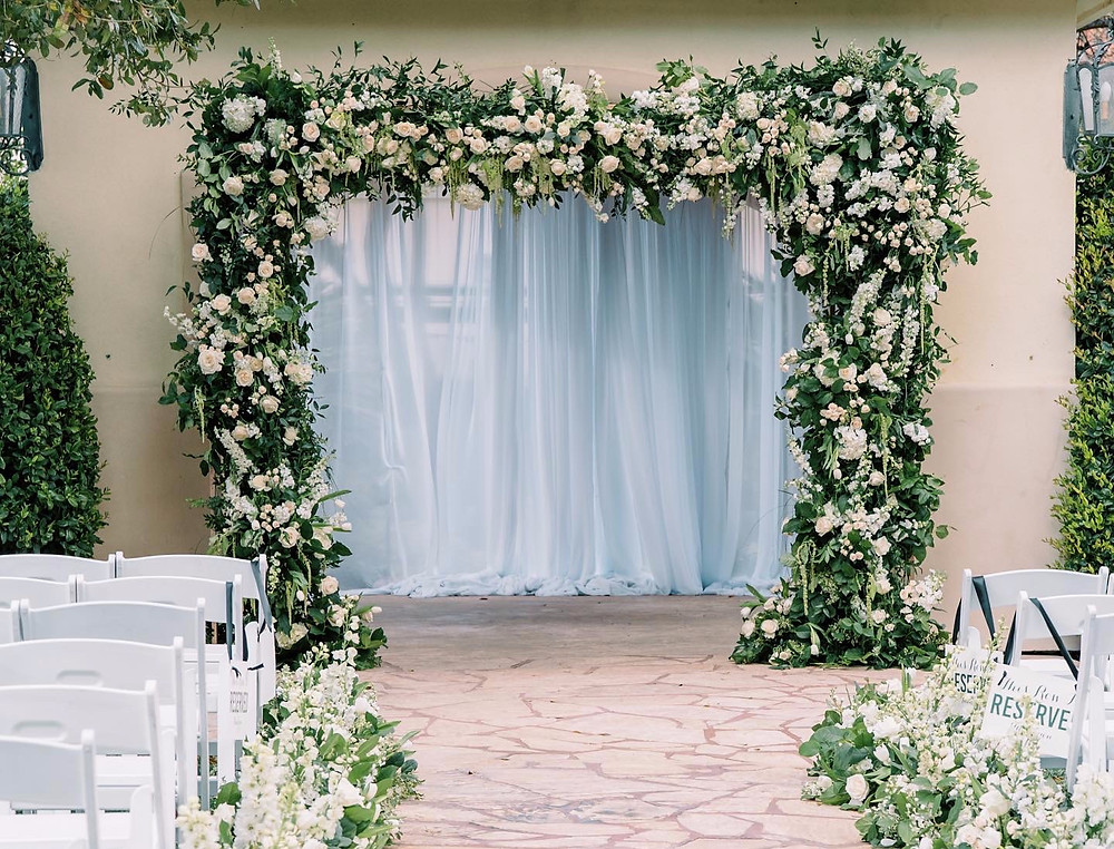 A gorgeous, lush, floral archway
