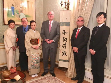 Tea ceremony at Ambassador's residence
