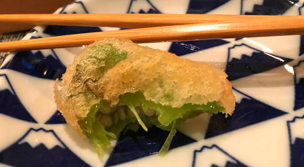 Vegan Tempura at Saido Tokyo