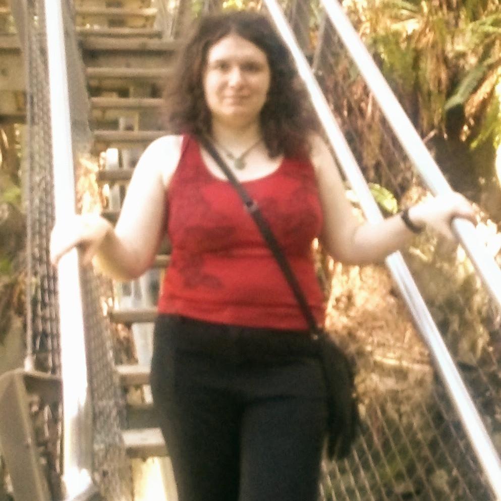 Sophie at Capilano Bridge in Vancouver