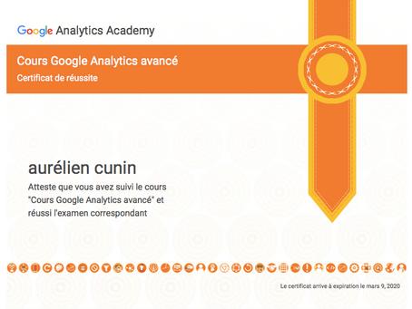 On a testé : le certificat Google Analytics Advanced !