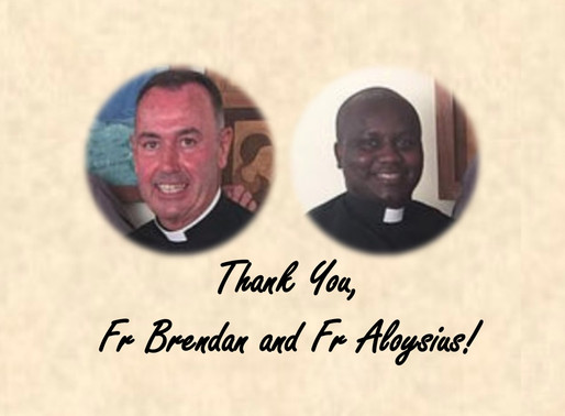 A Thank You for Fr Brendan and Fr Aloysius