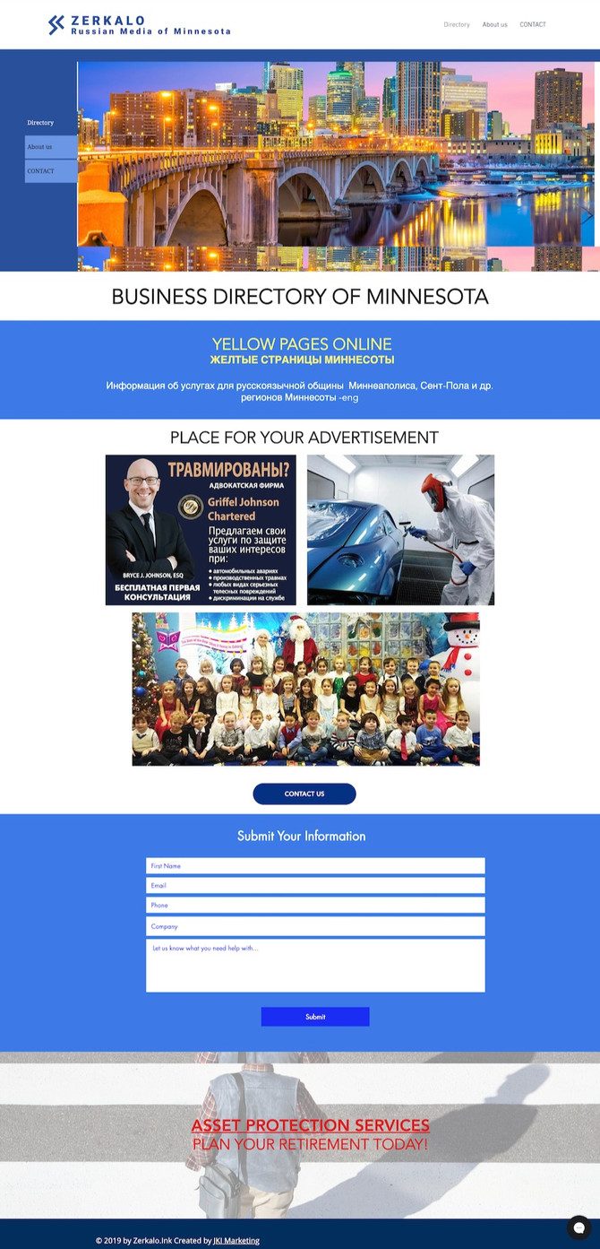Website design for Digital Marketing Communications Company in Minnesota