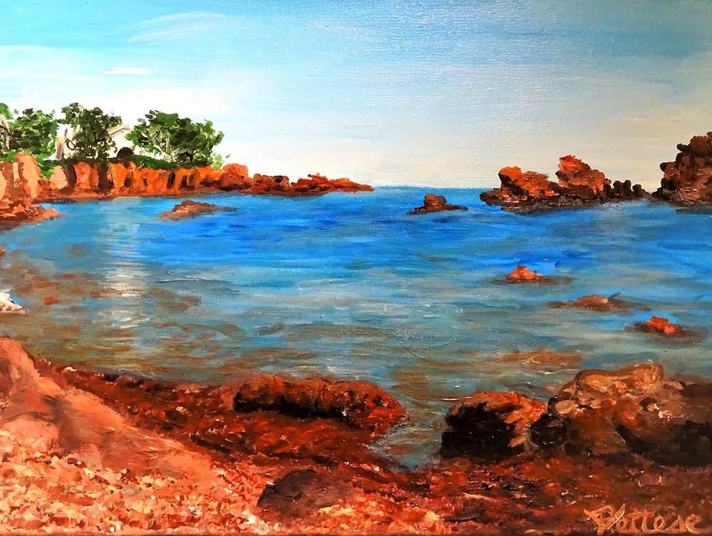 eau lumière paysage peinture