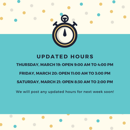 Updated Hours During COVID-19