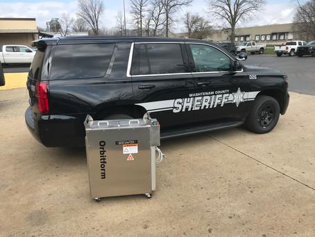 Washtenaw County Sheriff Picks Up Their Mask-Sanitizers