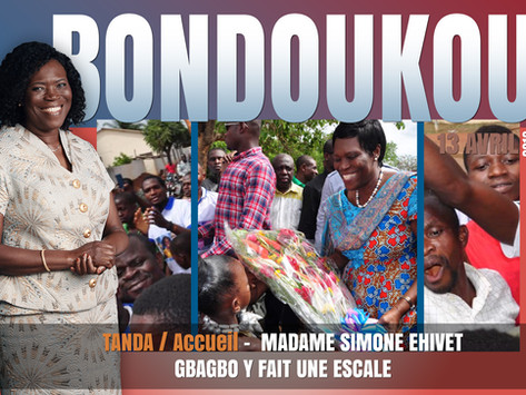 TANDA : MADAME SIMONE EHIVET GBAGBO Y FAIT UNE ESCALE
