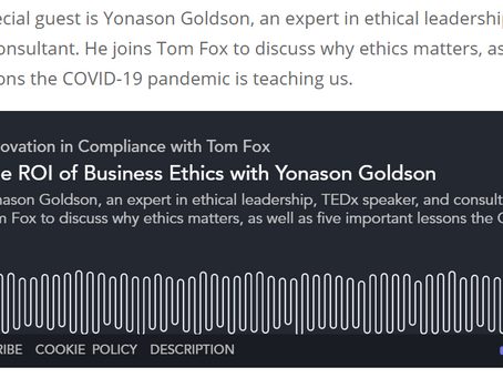 Innovation in compliance podcast interview