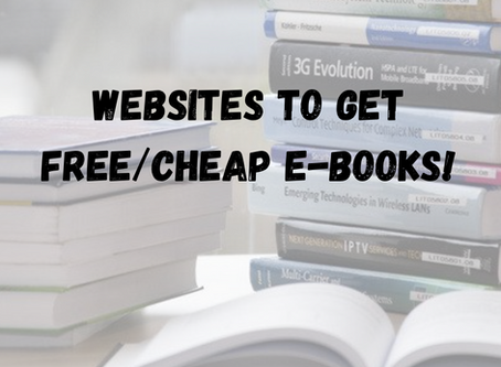 Websites and Sources For Free E-Books( Textbooks!)