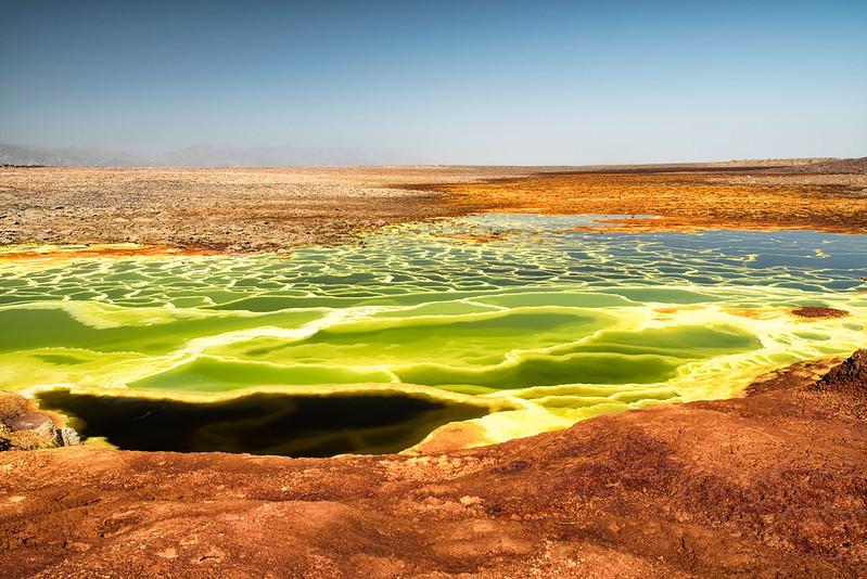 volcan Dallol dans le désert Danakil