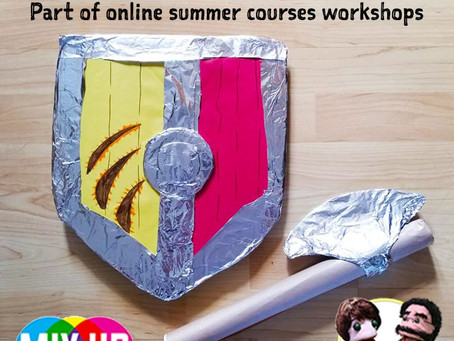 SUMMER ONLINE: Make a Viking Shield & Axe