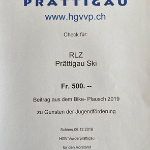 Check-Übergabe Bike-Plausch 2019
