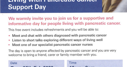Living with Pancreatic Cancer Support Day
