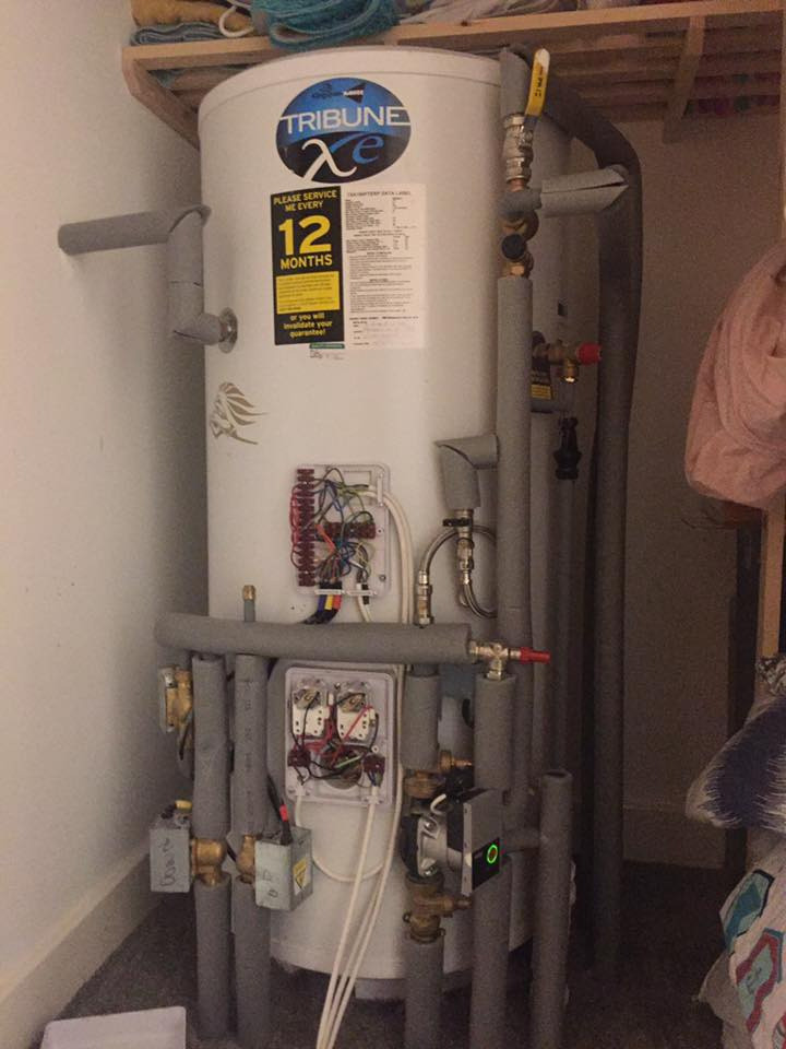 Kingspan Range Tribune XE unvented cylinder in a Strata home in Wakefield