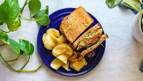 Vegan Pesto (Fesleğen) Soslu Nohutlu Sandviç