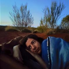 Dormindo no deserto Australiano.