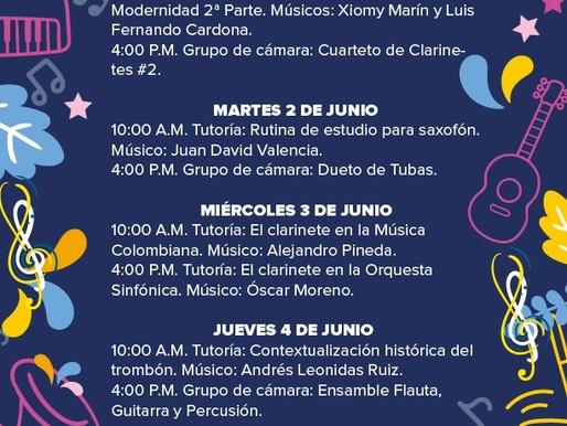 PROGRAMACIÓN BANDA MUNICIPAL DE MANIZALES - SEMANA DEL 1 AL 5 DE JUNIO