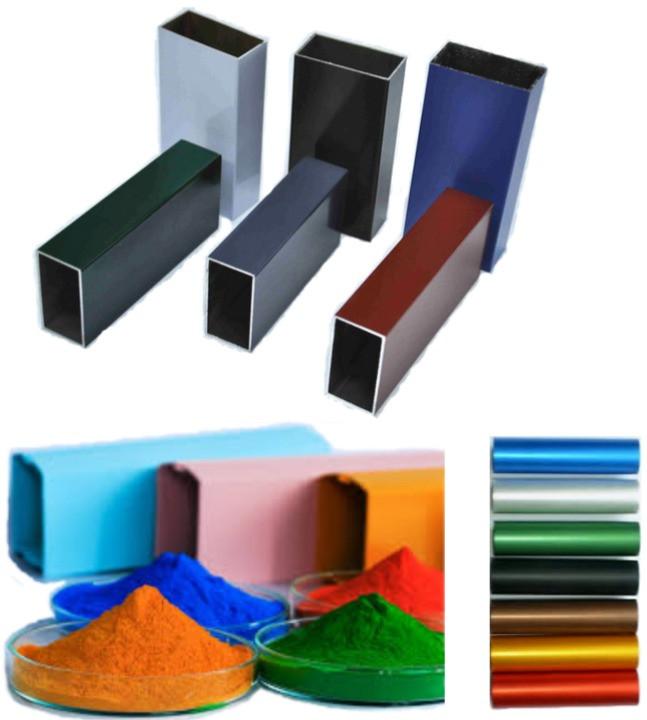 Powder coated aluminium profile treatment