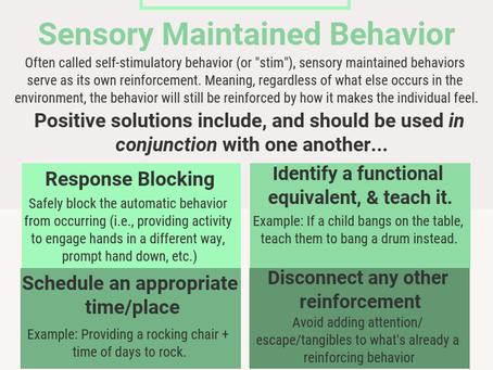 Sensory Maintained Behavior