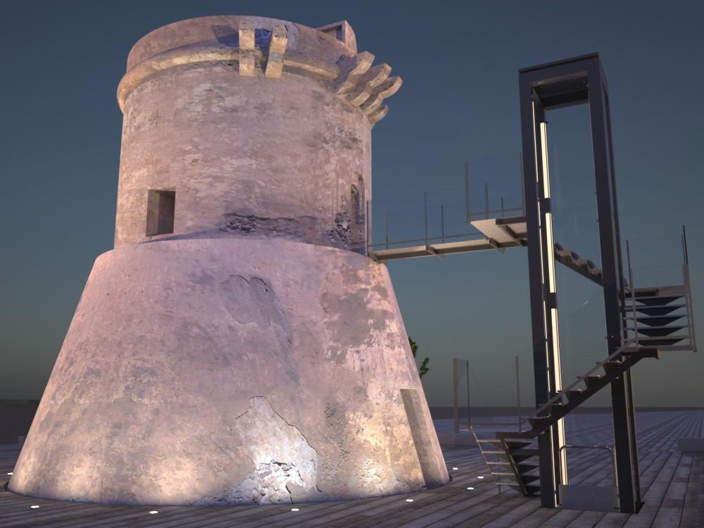 Torre de San Miguel. Imagen Nocturna.