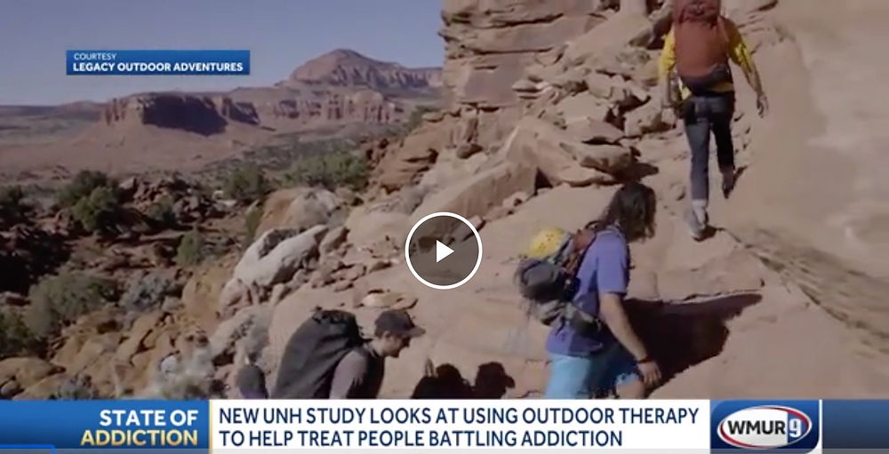 New UNH study looks at using outdoor therapy to help people battling addiction