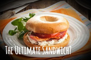 The Ultimate Sandwich - The Pimento Cheese & Bacon Bagel