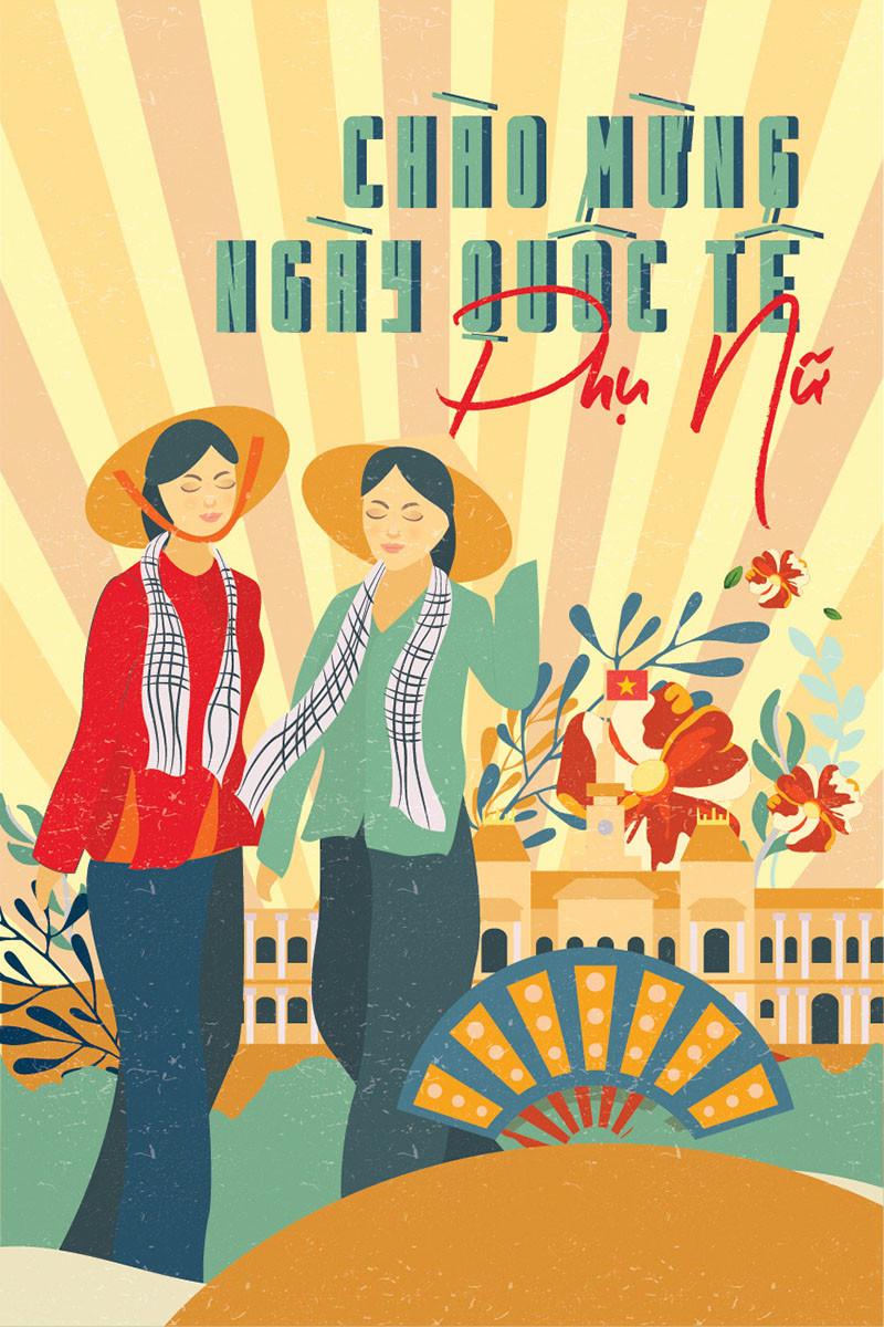 Tải Background Phông Nền Ngày Quốc tế Phụ nữ 8/3 vector Illustrator AI