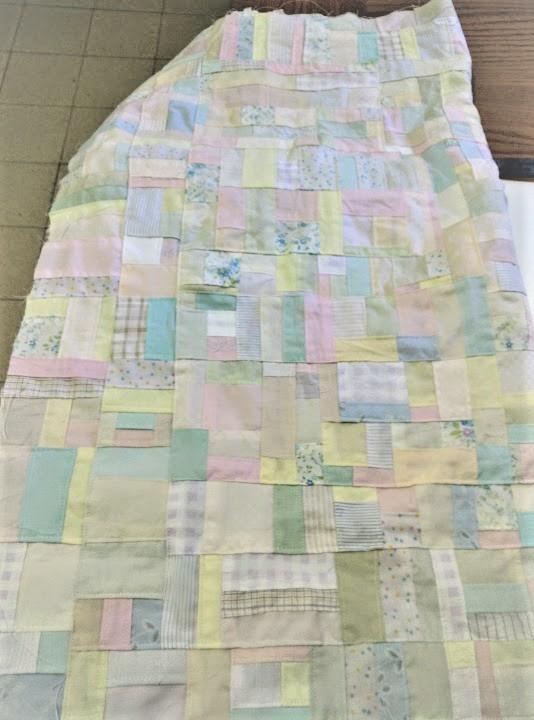 Pastel patchwork fabric