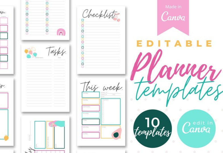Graphic- illustration of planner templates