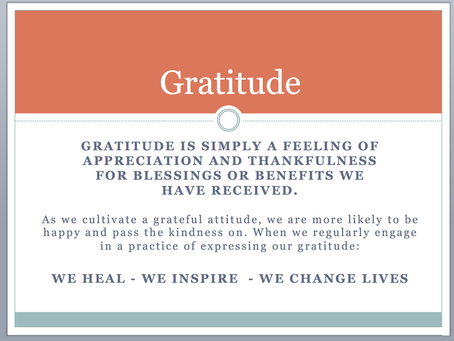 Give it Away - Giving, Gifting, and Gratitude