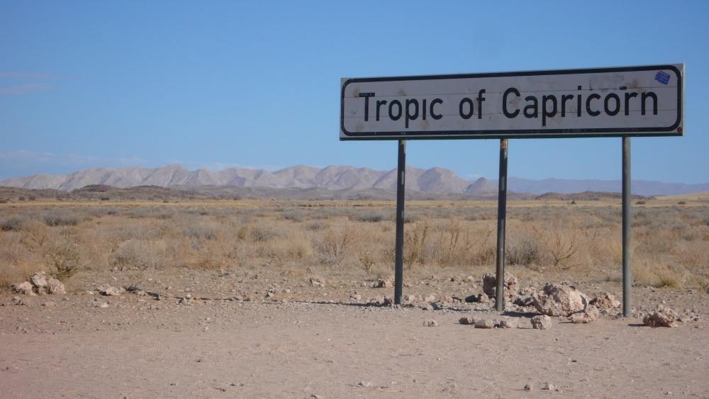 Namibie Tropique du capricorne