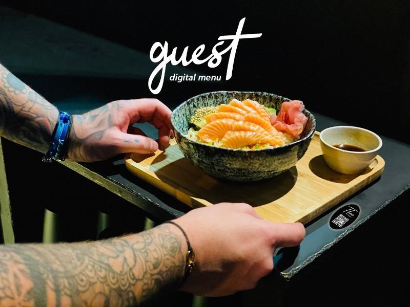Les photos des plats du restaurant sur téléphone via l'application guest menu digital