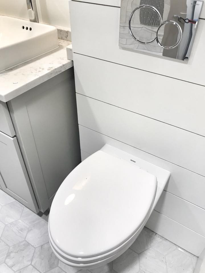 Traditional Flush Toilet Tiny Home