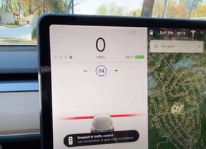First Insight into Tesla Autopilot Traffic Light and Stop Sign Control