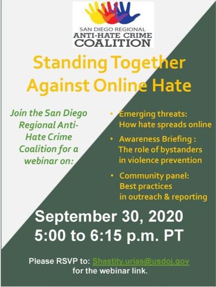 Webinar: Standing Together Against Online Hate