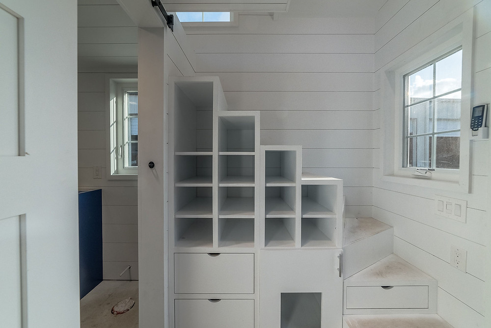 Tiny House Storage Stairs