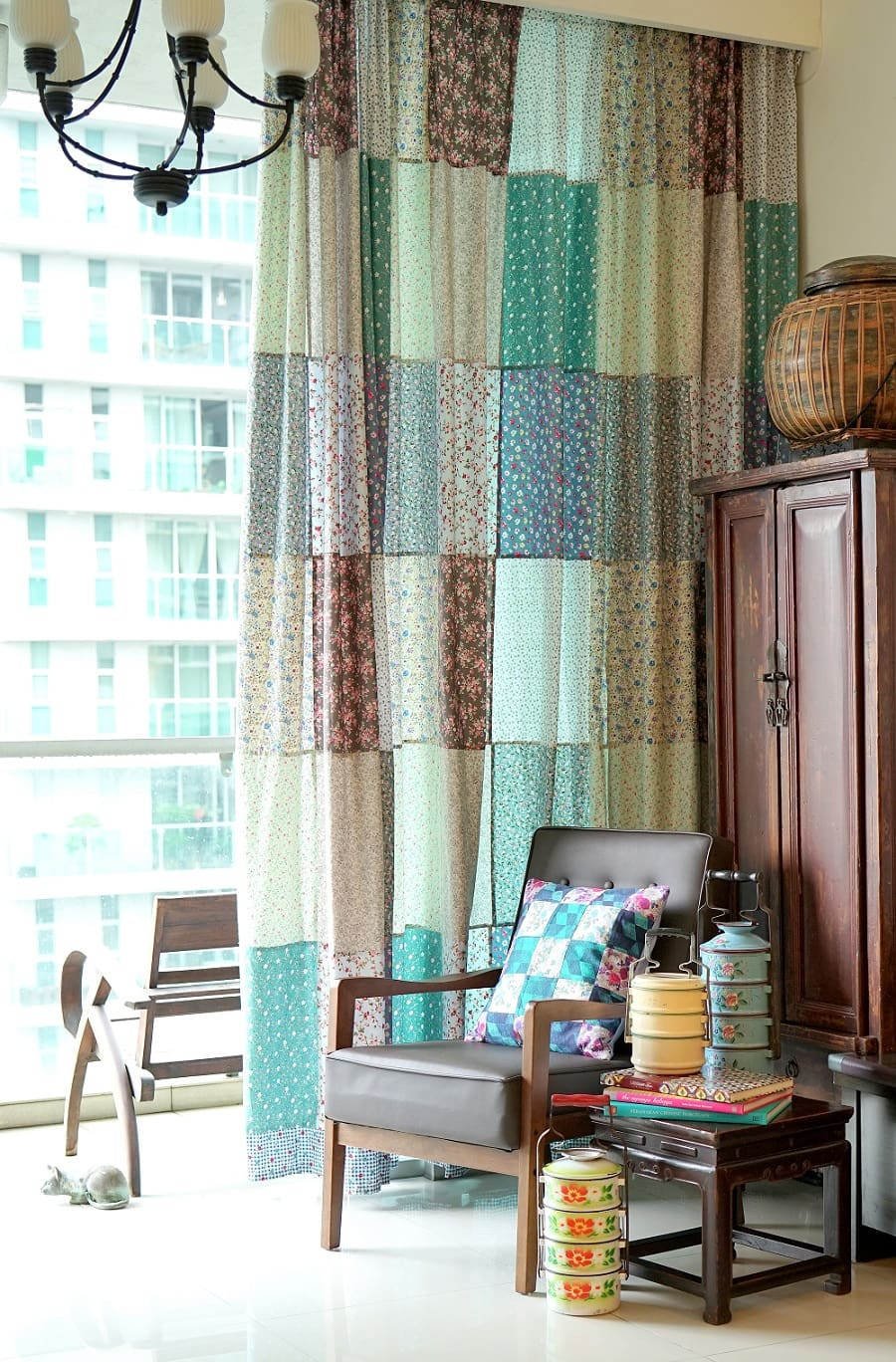 Homemade Patchwork Curtains