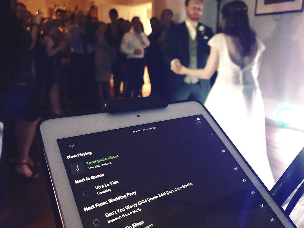Couple performing their first dance