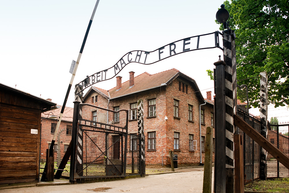 Entrance of Auschwitz I