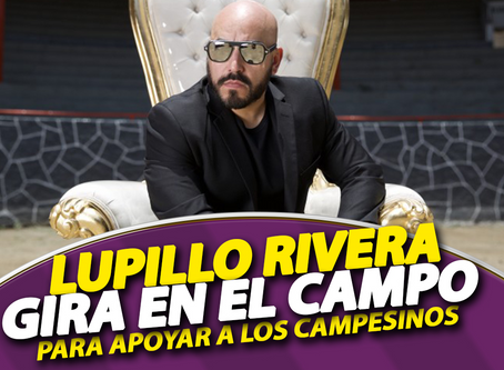Lupillo Rivera en Gira en el Campo para ayudar y apoyar.