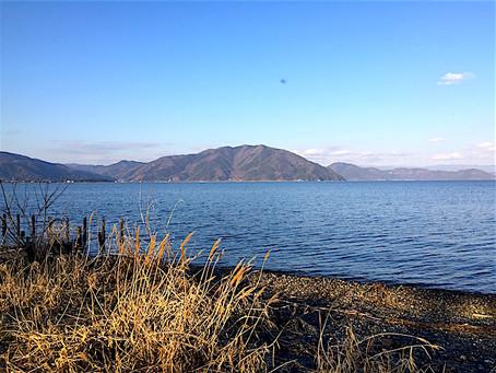 幻想的な奥琵琶湖