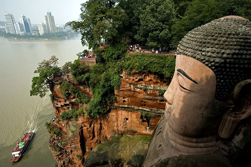 Grand Buddha de Leshan en Chine